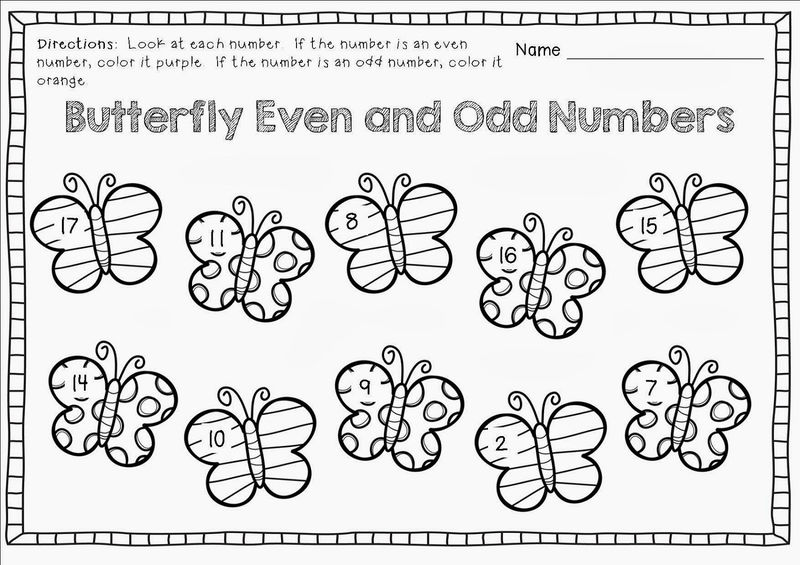 Even And Odd Numbers Worksheets Kids