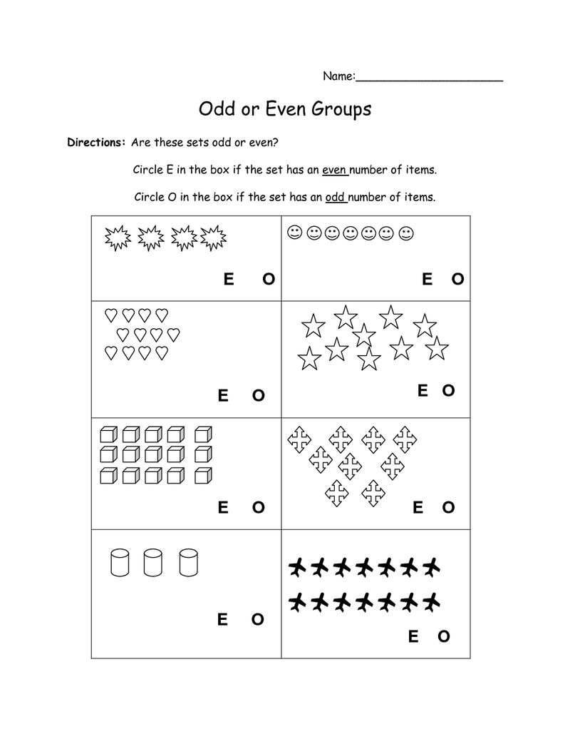 Even Odd Worksheets Picture