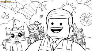 Everything is awesome lego coloring page