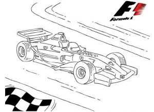 F1 formula 1 race cars coloring pictures