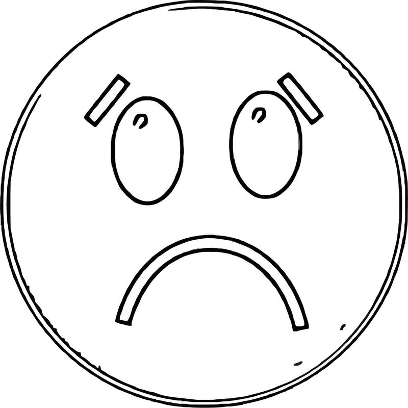 Face Happy Face Sad Face 011 Coloring Page