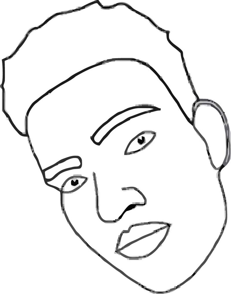 Face Images Coloring Page 15