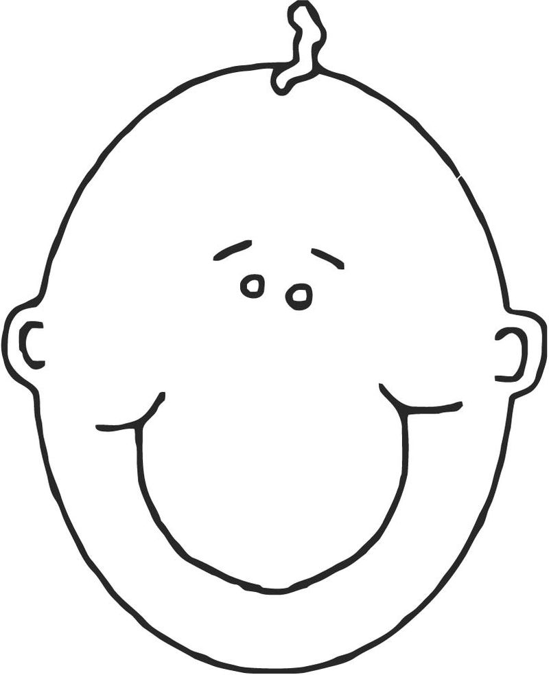 Face Images Coloring Page 17