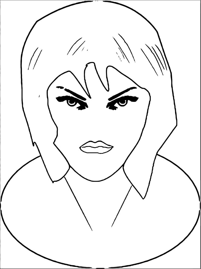 Face Images Coloring Page 30