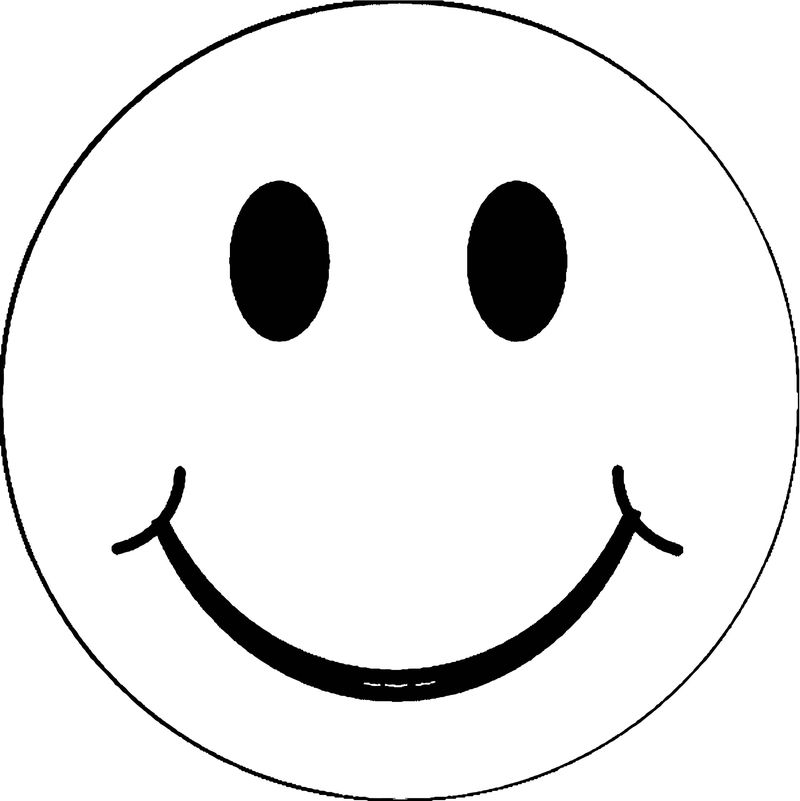Face Pink Smiley Face Coloring Page