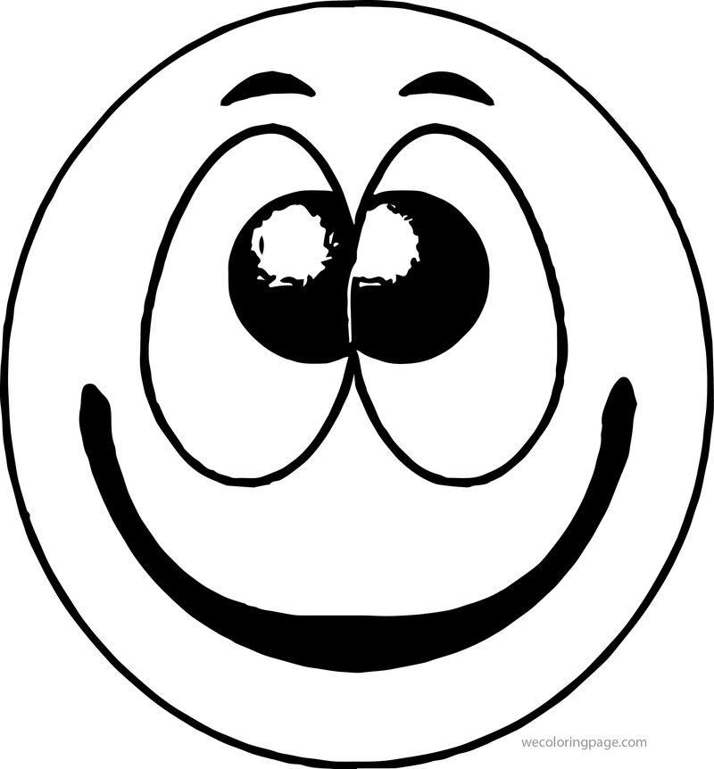 Face Smile Happy Face Free Download Emoticons Themed For You Coloring Page