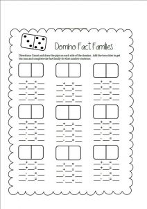 Fact families worksheets first grade blank