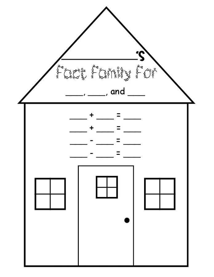 Fact Family Triangle Template