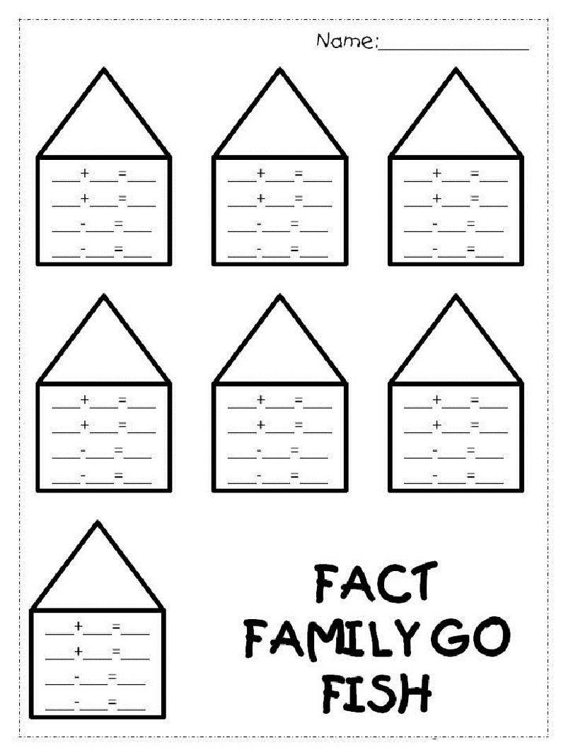 Fact Family Worksheets 1st Grade New 1