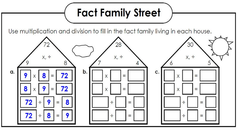 Fact Triangle Worksheets New