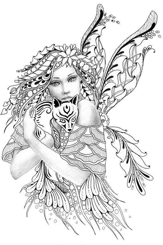 Fairy Coloring Page For Adults