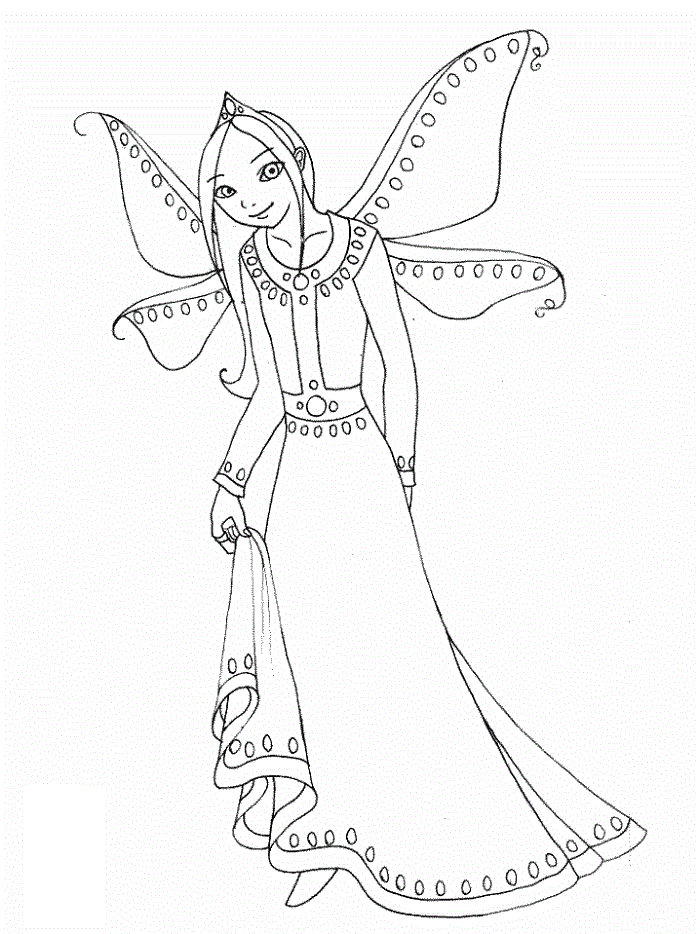 Fairy Coloring Pages For Children