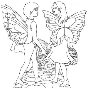 Fairy coloring pages for girl