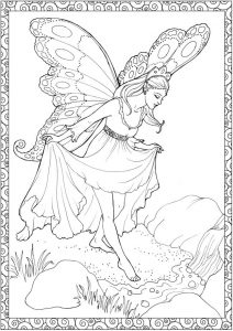 Fairy coloring pages for teens and adults 2