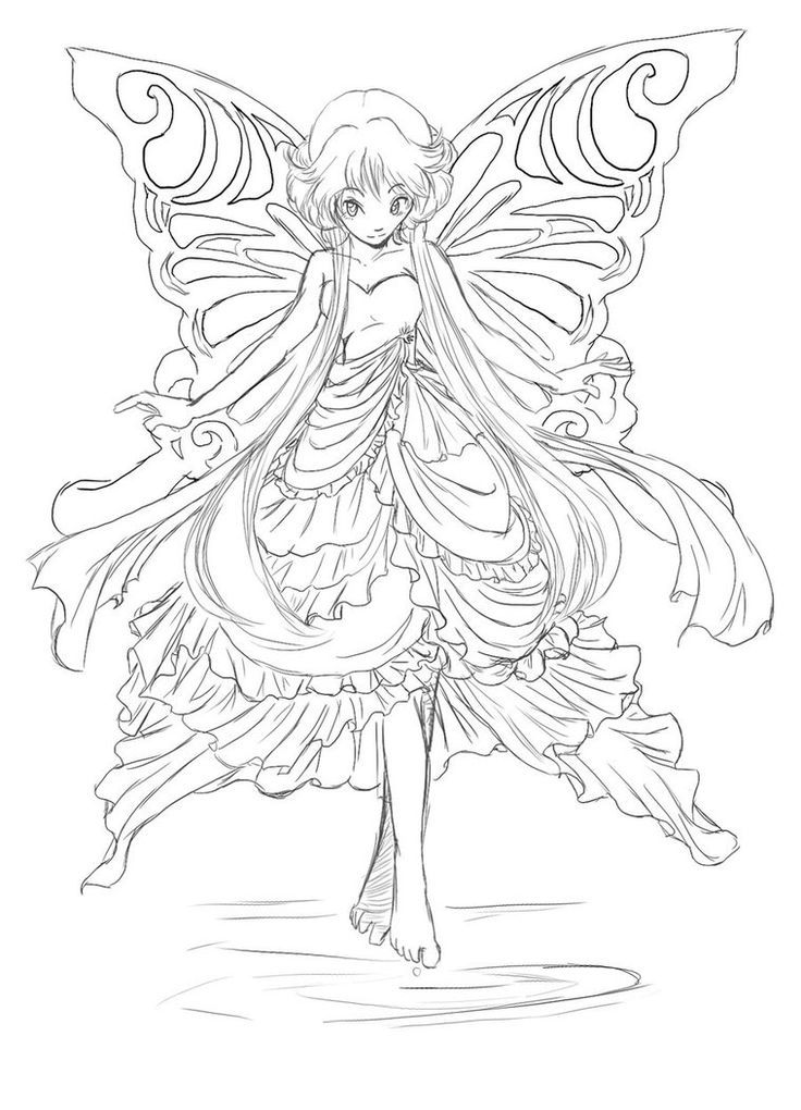 Fairy Coloring Pages For Teens And Adults