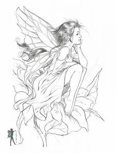 Fairy drawing coloring page