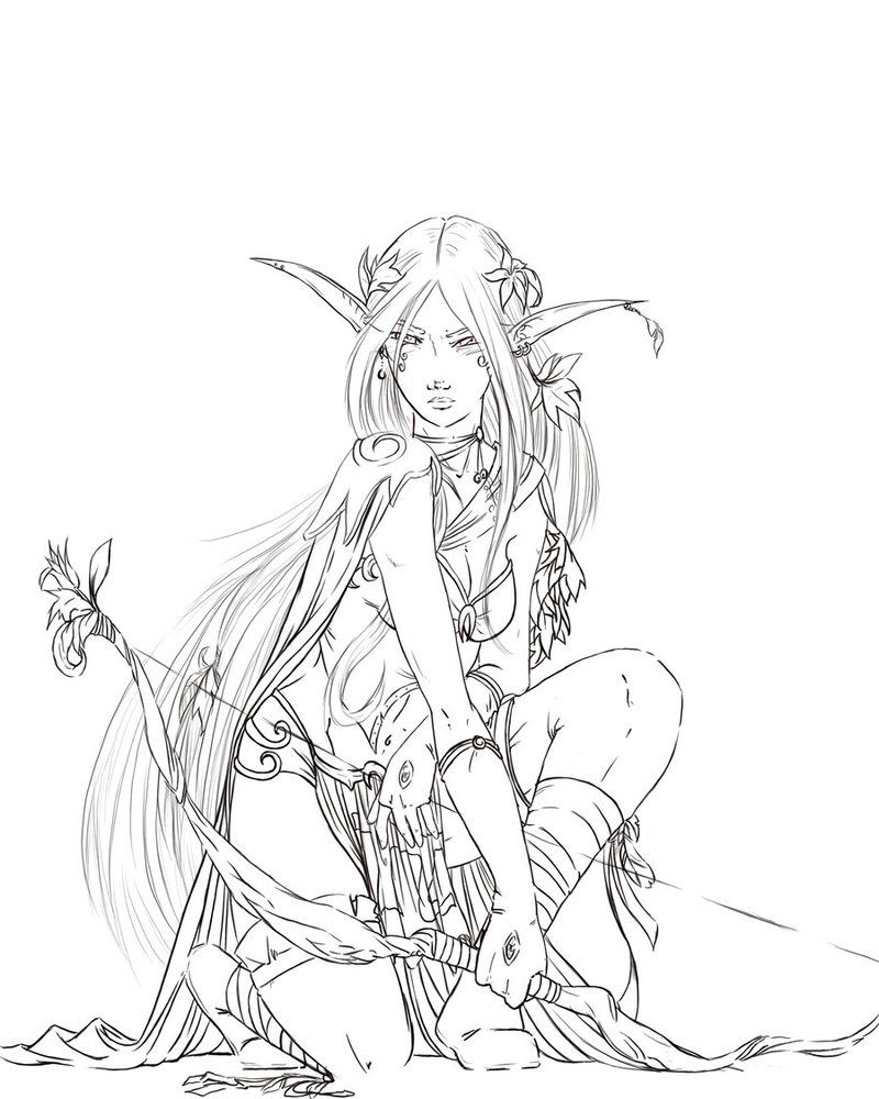 Fairy Drawing Coloring Pages