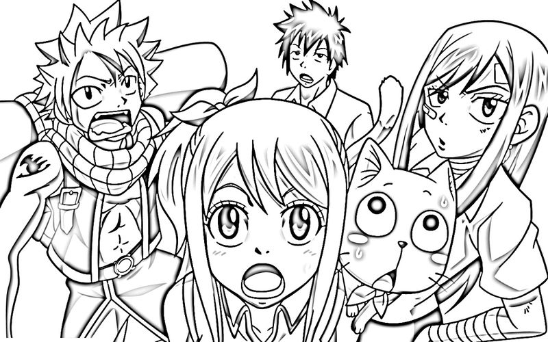 Fairy Tail Color Pages Activity