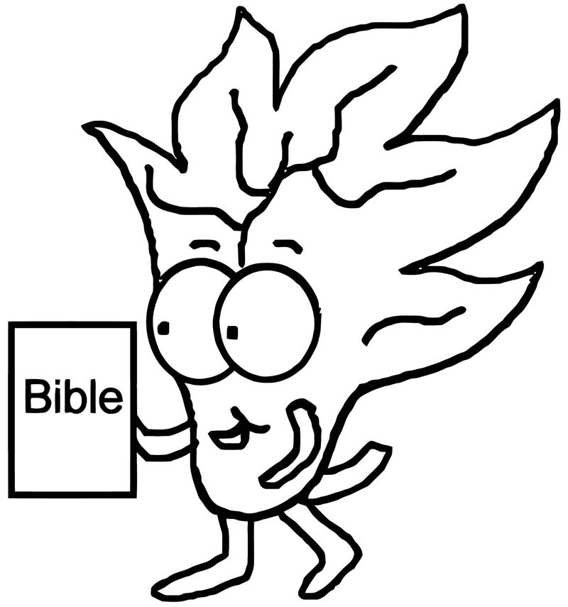 Fall Bible Leaf Coloring Page