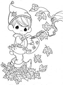 Fall color pages autumn 1