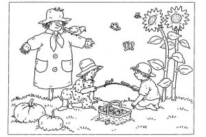 Fall coloring page 001