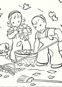 Fall coloring pages 02