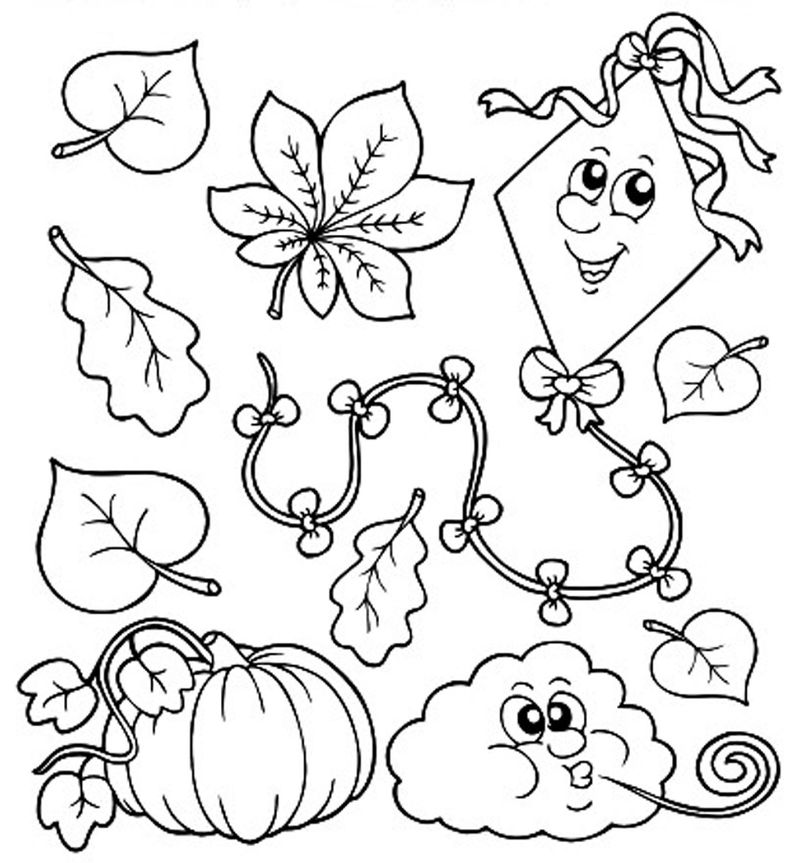Fall Coloring Pages For Children