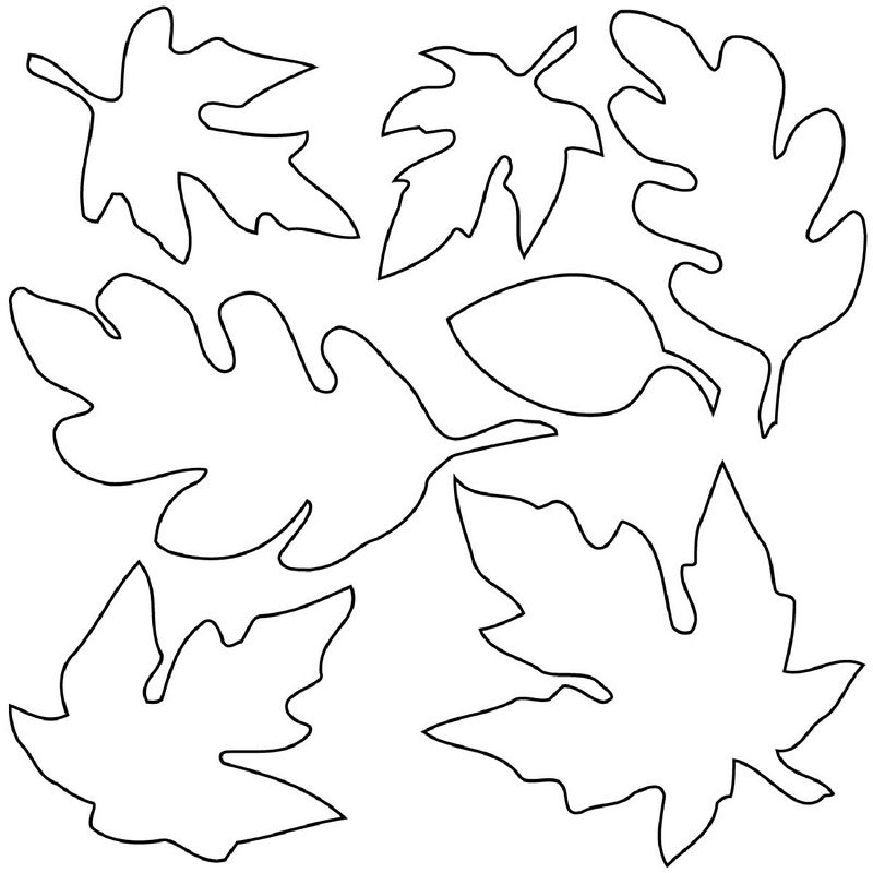 Fall Coloring Pages For Kids Leaves