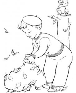 Fall coloring pages leaves1 001