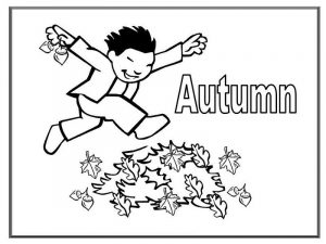 Fall coloring pages template