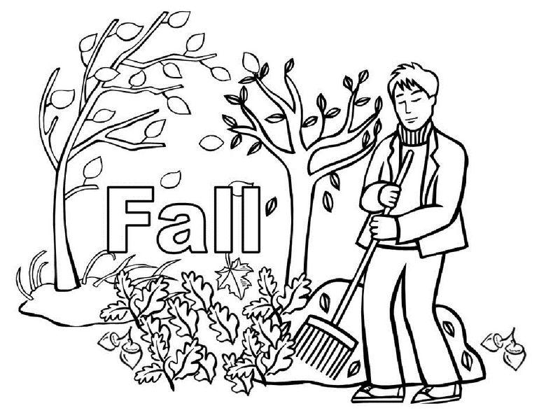 Fall Coloring Sheet For Kids 001