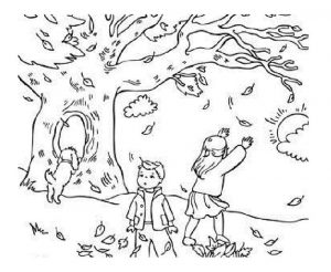 Fall coloring sheets pages