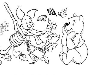 Fall coloring sheets winny the pooh