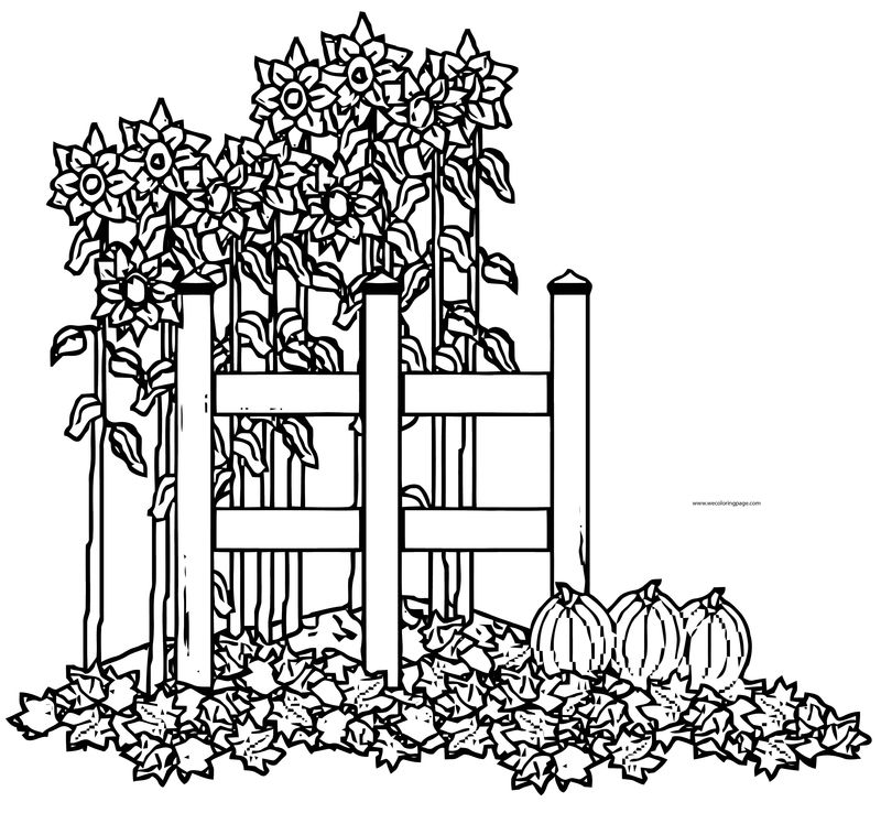 Fall Flower Coloring Page