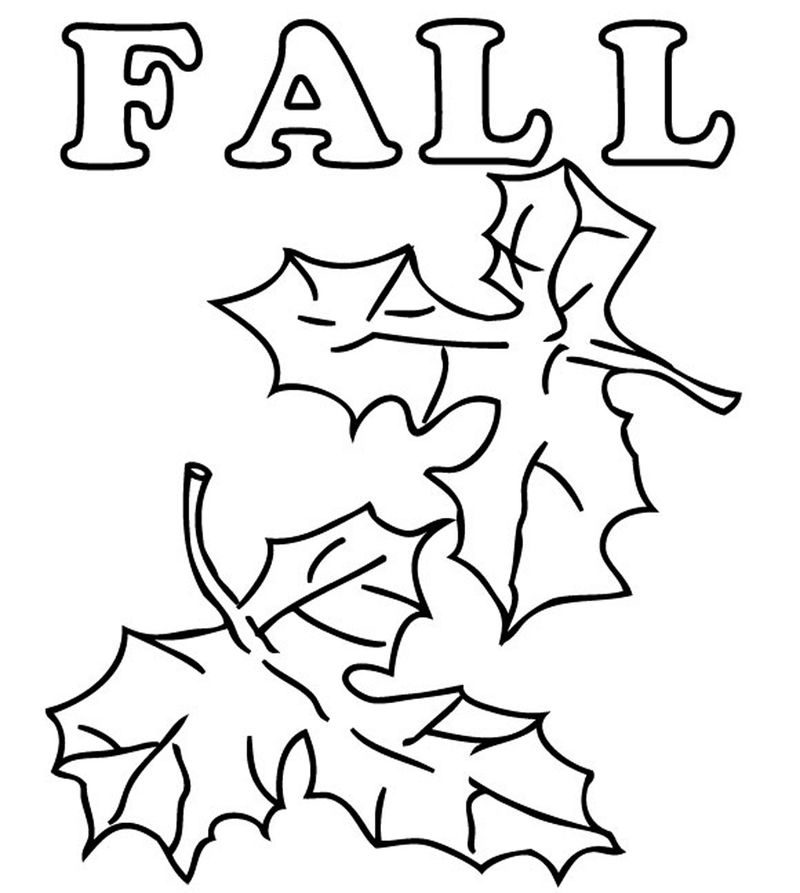 Fall Harvest Coloring Pages Leaf Fall 002