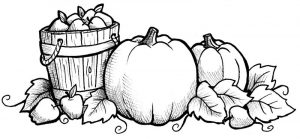 Fall harvest coloring pages pumpkin