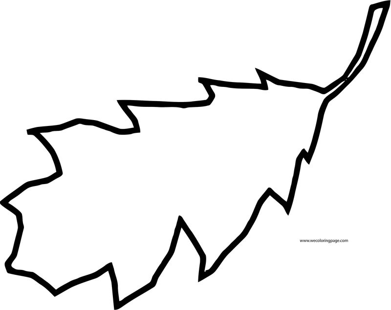 Fall Leaf One Coloring Page
