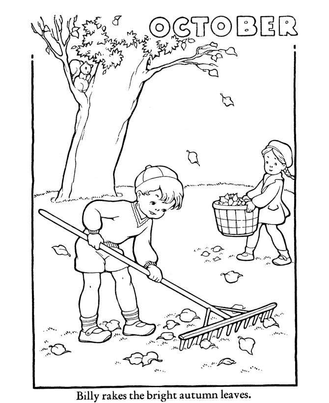Fall October Coloring Pages