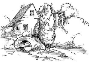 Fall outdoors free coloring pages for adults
