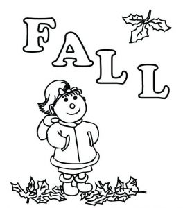 Fall printble coloring worksheet