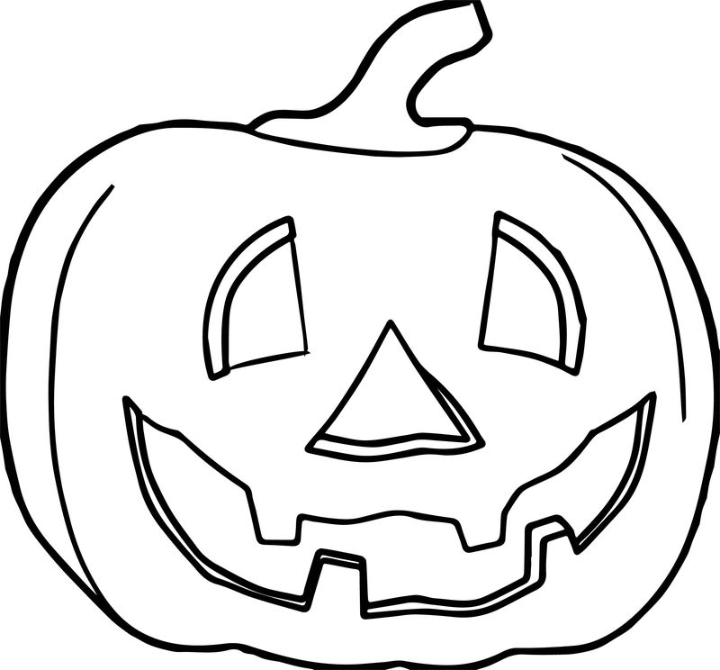 Fall Pumpking Halloween Coloring Page