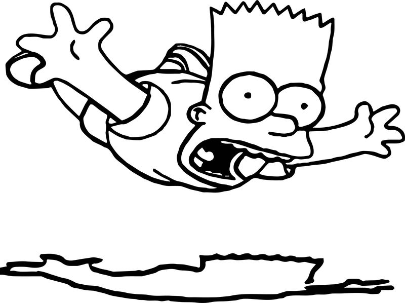 Fall The Simpsons Coloring Page