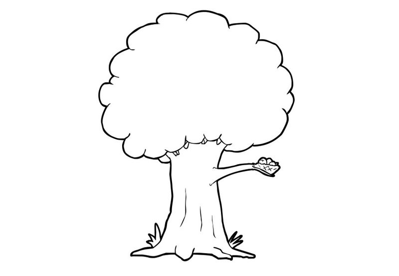 Fall Trees Coloring Pages