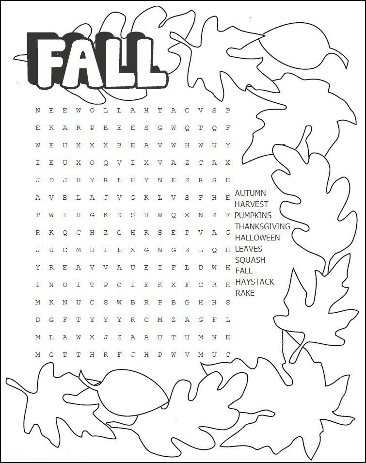 Fall Word Search 2