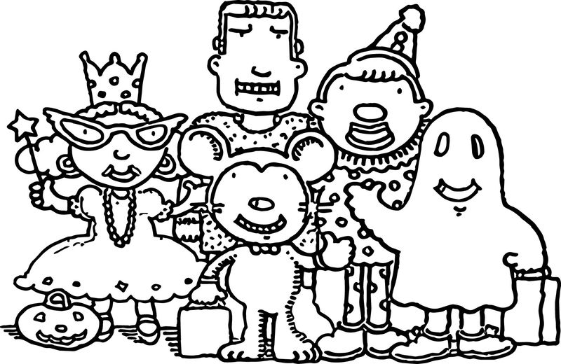 Family Characters Coloring Page 001