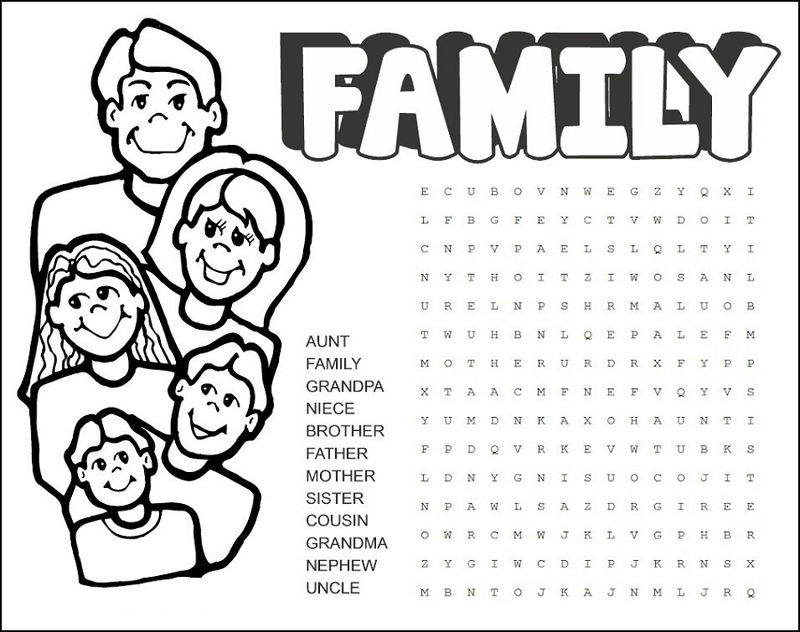 Family Word Search Free