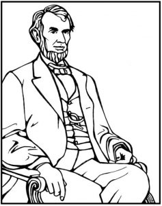 Famous abraham lincoln coloring page