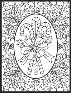 Fancy candy cane coloring pages for dults