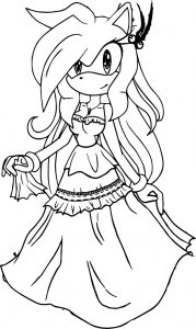 Fantastic dress amy rose coloring page