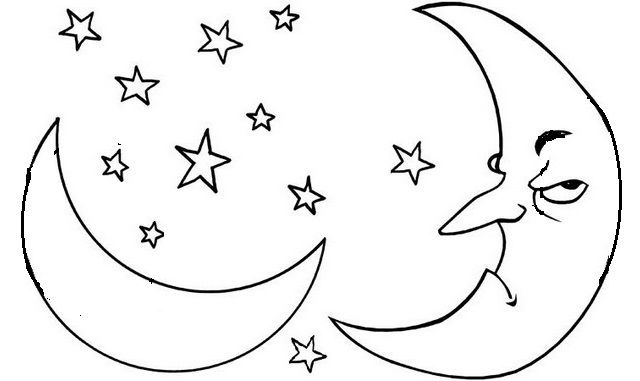 Fantasy Angry Moon Coloring Pages